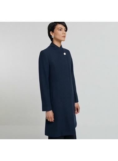 Yargıcı Kimono Yaka Palto Lacivert